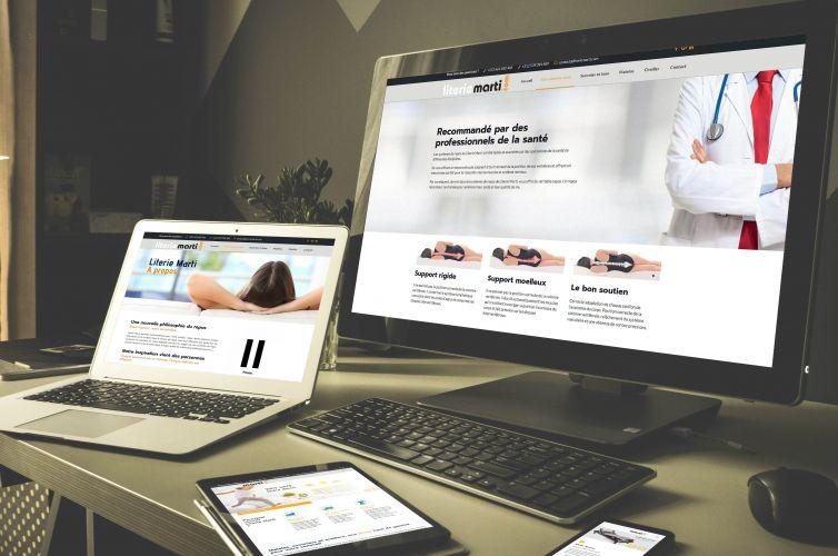 Site Web Literie Marti